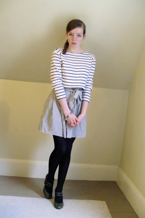 thrifted top - secondhanddiy skirt - CVS tights - payless shoes - My grandmother