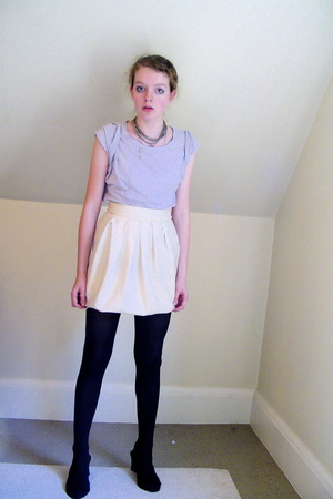 H&M t-shirt - self-made skirt - tights - shoes