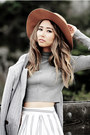 Silver-shellys-london-boots-nude-lulus-hat-heather-gray-akira-sweater