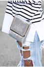 Silver-nina-shoes-bag-bubble-gum-nina-shoes-heels-white-wannabk-sweatshirt