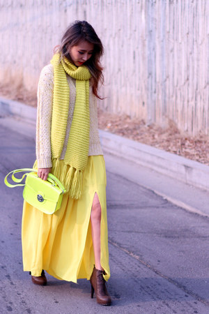 yellow 6pm skirt