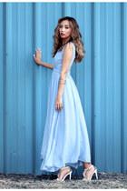 sky blue style moi dress