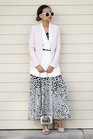 black polka dots Clinko dress - bubble gum new look blazer