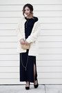 Navy-castro-dress-neutral-river-island-coat-nude-oasap-bag