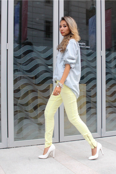 yellow denim Forever 21 jeans