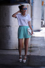 White-yesimfrench-bag-aquamarine-yesimfrench-shorts-white-yesimfrench-top