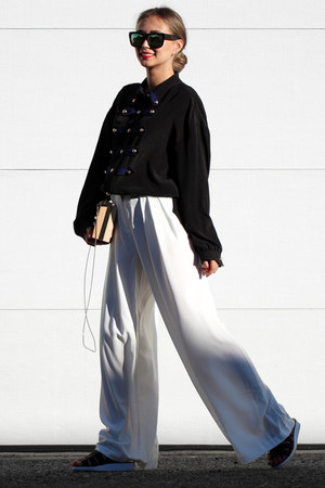 black WannaBK blouse - white Lookbook pants