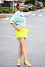 Aquamarine-printed-blackfive-shirt-yellow-chiffon-blackfive-shorts
