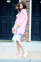 bubble gum Chicwish coat - light blue Front Row Shop dress