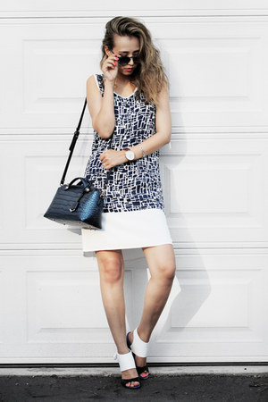 dark brown Daniel Wellington watch - navy Shop the Mint dress