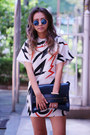 White-cotton-blackfive-dress-blue-sunglasses-choies-sunglasses