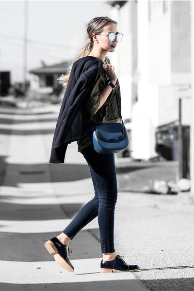 black Nordtsrom blazer - navy Nordtrom jeans - black Shoescom loafers