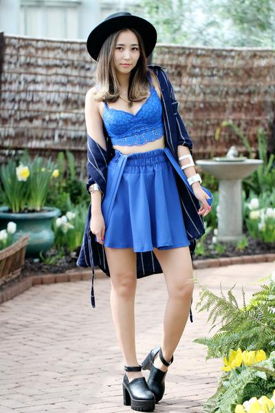 blue lace Victorias Secret bra