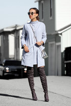 How to wear over knee boots this Fall