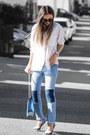 Blue-ny-company-jeans-black-ny-company-necklace