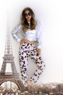 Silver-silver-yesimfrench-sweatshirt-light-pink-printed-blackfive-pants