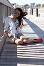 White-oasap-shirt-carrot-orange-asos-flats