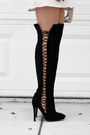 Black-public-desire-boots-peach-tobi-dress