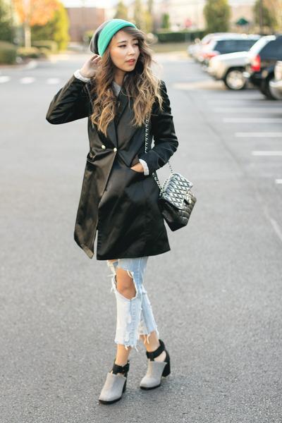 Silver-nasty-gal-boots-aquamarine-verloop-hat-black-style-moi-blazer