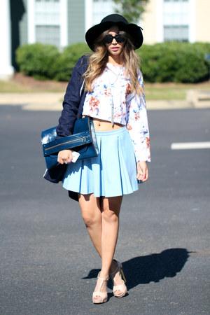 bubble gum floral OASAP iphone case - navy wool Little Mistress coat