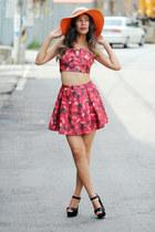 ruby red printed YIGELILA top - ruby red printed YIGELILA skirt