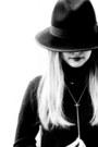 Black-aqua-dress-black-forever-21-hat-heather-gray-kitsch-ring