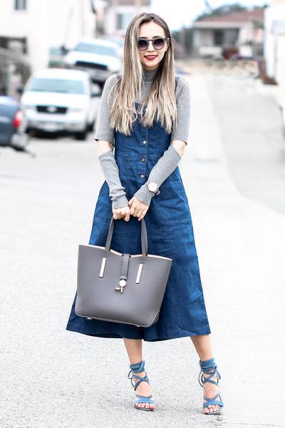 Blue Public Desire Sandals Charcoal Gray 2020ave Sweaters Blue