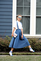 navy Chicwish skirt - blue Polette sunglasses - white new look top