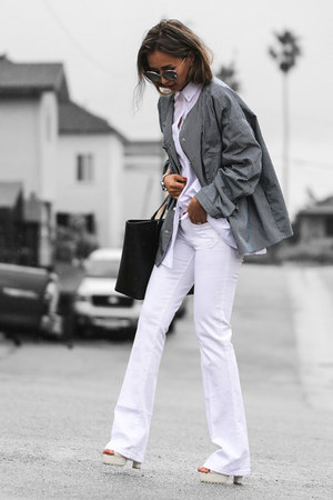 white Sanctuary jeans - white Forever 21 shirt - black Nuciano bag