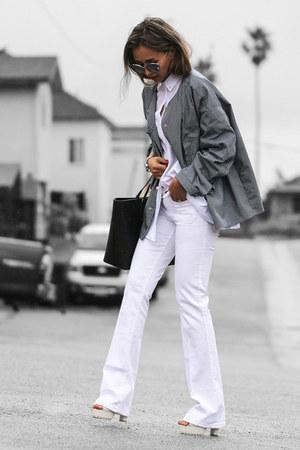 white Sanctuary jeans - white Forever 21 shirt - black Nuciano bag