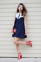 navy style moi dress - red Lulus sandals