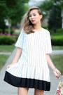White-chicwish-dress-black-steve-madden-sandals
