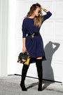 Black-public-desire-boots-navy-urban-finesse-dress-black-nicole-lee-bag
