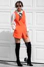 Black-public-desire-boots-navy-nina-shoes-bag-carrot-orange-n21h-romper