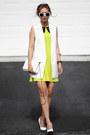 Chartreuse-oasap-dress