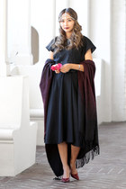 brick red Dynamite scarf - black Etsy dress
