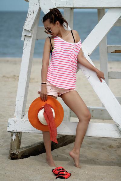 blue Triangl swimwear - pink VS pink top
