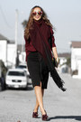 Brick-red-lulus-sweater-brick-red-dynamite-scarf-black-lulus-skirt
