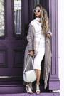 White-ny-company-sweater-tan-ny-company-cardigan-white-ny-company-skirt