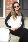 Black-lovemartini-sweater-white-leather-stylemoi-bag-black-blackfive-pants