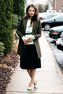 Dark-green-oasap-coat-aquamarine-sheinside-sweater-aquamarine-zappos-heels