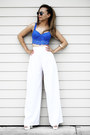 White-trendhood-necklace-white-megz-fashion-pants-blue-vs-pink-bra
