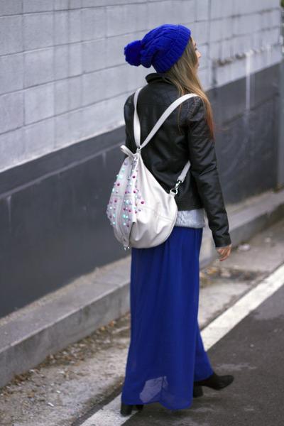 blue chiffon Forever 21 skirt