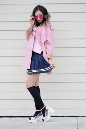 bubble gum Polette sunglasses - navy OASAP skirt
