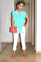 aquamarine Forever21 shirt