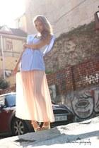 cream chiffon Forever 21 skirt