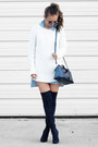 Navy-public-desire-boots-light-blue-style-moi-dress