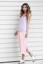 light purple Viparo top - light pink Chicwish pants