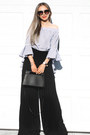 Black-prada-sunglasses-white-sheinside-top-black-farfetch-pants