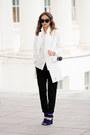 White-sheinside-blazer-black-forever-21-pants-blue-tobi-sandals